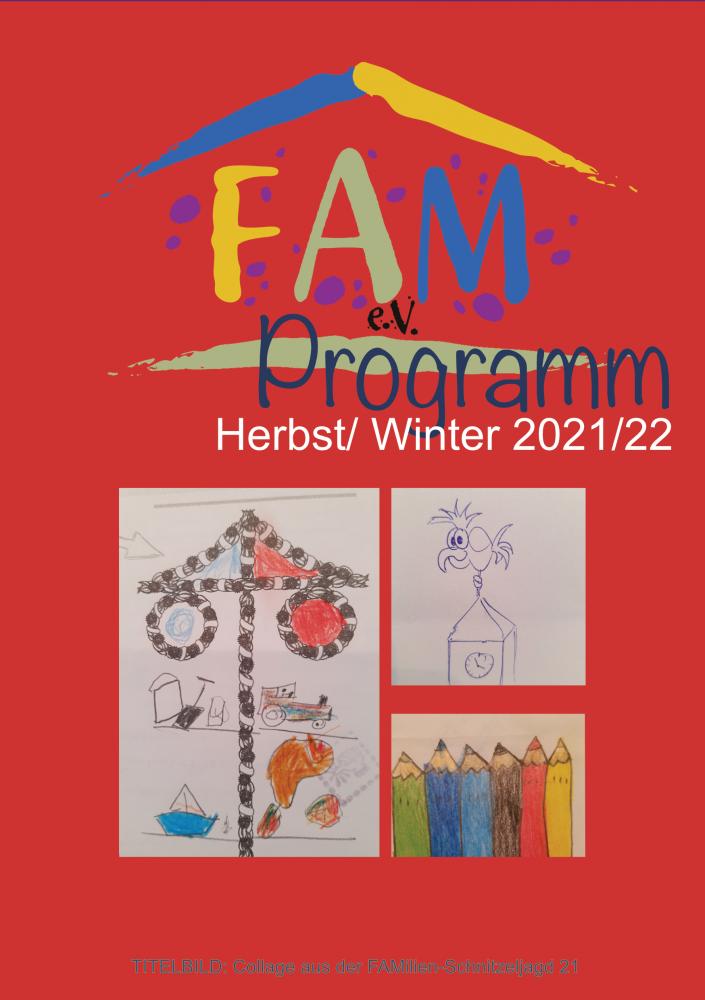Titelbild des aktuellen FAM-Programms Herbst/ Winter 2021/22